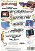 The Simpsons: Bart vs. the World NES Back Cover