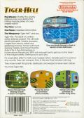 Tiger-Heli NES Back Cover