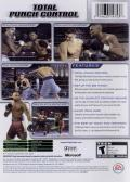 Fight Night 2004 Xbox Back Cover