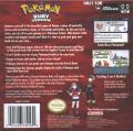 Pokémon Ruby Version Game Boy Advance Back Cover