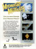 Midnight Mutants Atari 7800 Back Cover