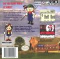 Harvest Moon GB Game Boy Color Back Cover
