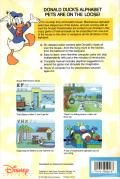 Donald's Alphabet Chase DOS Back Cover