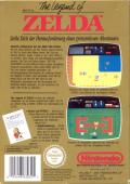 The Legend of Zelda NES Back Cover