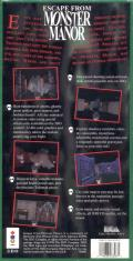 Escape from Monster Manor 3DO Back Cover