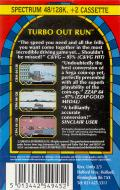 Turbo Out Run ZX Spectrum Back Cover