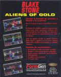 Blake Stone: Aliens of Gold DOS Back Cover
