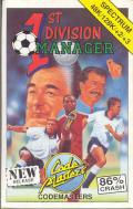 1st Division Manager ZX Spectrum Front Cover
