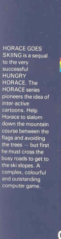 Horace Goes Skiing ZX Spectrum Back Cover