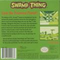 Swamp Thing Game Boy Back Cover