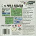 Madden NFL 2002 Game Boy Color Back Cover