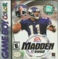 Madden NFL 2002 Game Boy Color Front Cover
