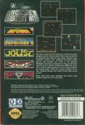 Williams Arcade Classics Genesis Back Cover