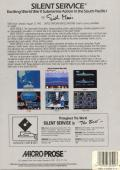 Silent Service Apple II Back Cover