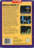 Mega Man 4 NES Back Cover
