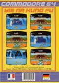 Yie Ar Kung-Fu Commodore 64 Back Cover