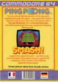 Ping Pong Commodore 64 Back Cover