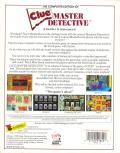 Clue: Master Detective Apple II Back Cover