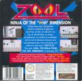 Zool Game Boy Back Cover