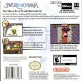 Sword of Mana Game Boy Advance Back Cover