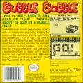 Bubble Bobble Game Boy Back Cover