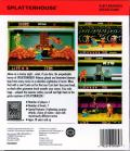 Splatterhouse TurboGrafx-16 Back Cover