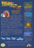 Back to the Future Part II & III NES Back Cover