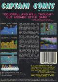The Adventures of Captain Comic NES Back Cover