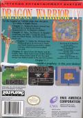 Dragon Warrior IV NES Back Cover