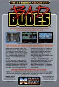 Bad Dudes Commodore 64 Back Cover