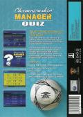 Championship Manager Quiz Windows Back Cover