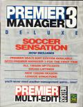 Premier Manager 3 De-Luxe Amiga Front Cover