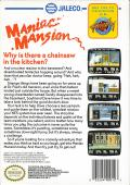 Maniac Mansion NES Back Cover