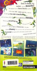 Gex 3DO Back Cover