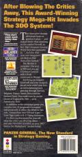 Panzer General 3DO Back Cover