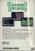 Knuckle Busters Commodore 64 Back Cover