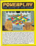 Powerplay: The Game of the Gods Amiga Back Cover