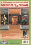 Defender of the Crown Commodore 64 Back Cover