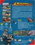F1 Manager DOS Back Cover