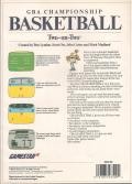 GBA Championship Basketball: Two-on-Two Commodore 64 Back Cover