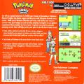 Pokémon FireRed Version Game Boy Advance Back Cover
