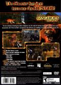 Cabela's Dangerous Hunts PlayStation 2 Back Cover