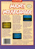 Mickey Mousecapade NES Back Cover