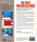 The Hunt for Red October DOS Back Cover