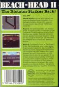 Beach-Head II: The Dictator Strikes Back ZX Spectrum Back Cover