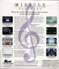 The Miracle Piano Teaching System DOS Back Cover Software-only package