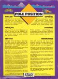 Pole Position VIC-20 Back Cover