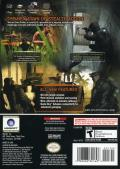 Tom Clancy's Splinter Cell: Pandora Tomorrow GameCube Back Cover