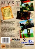 Myst SEGA Saturn Back Cover