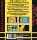 Bionic Commando Atari ST Back Cover